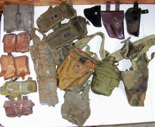 Army Military Surplus Ammo Mag Magazine Pouch Holster Gun Pistol Belt M1 Garand