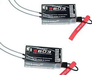 2X Empfänger S603 DSMX DSM2 Spektrum Kompatibel Storm Receiver. G-124 m2