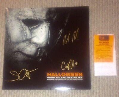 John Carpenter Halloween 3 Soundtrack (HALLOWEEN SIGNED x3 ORANGE VINYL LP JOHN CARPENTER CODY DANIEL DAVIES)