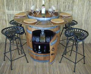 BARREL BISTRO SETTINGS / WINE COOLERS / BARSTOOLS / INDUSTRIAL