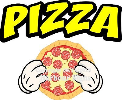 Pizza Decal Choose Your Size Color Concession Food Truck Sticker M