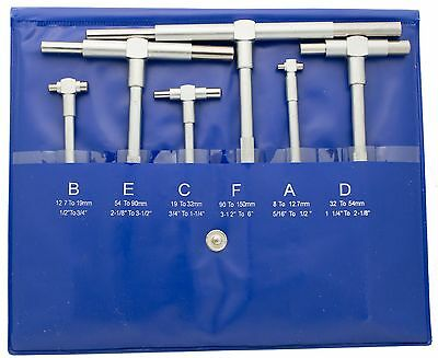 Telescoping Gage Set 516 To 6 Range Includes 6 Gages Chicago Brand 50215