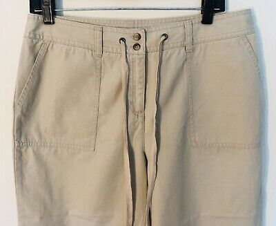 Allison Fit Hose (NWT Women's Size 10 Charter Club Allison Fit Capri Cropped Capri Pants Chino Tan)
