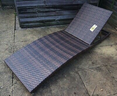 Long Sun Lounger in Synthetic Rattan - Get Ready for Summer!