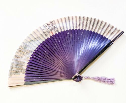 Chinese Silk Hand Fan Handheld Folding Fan With Landscape Design