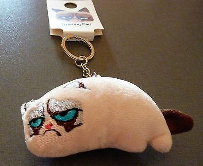 NEU Grumpy Cat Katze Plüsch Schlüsselanhänger Taschen Anhänger Key Chain Primark