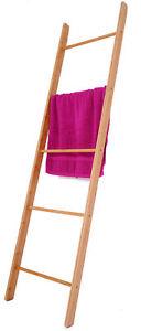 Bambus Handtuchleiter - 170cm - Handtuchhalter Bad Regal Handtuch Ständer Leiter