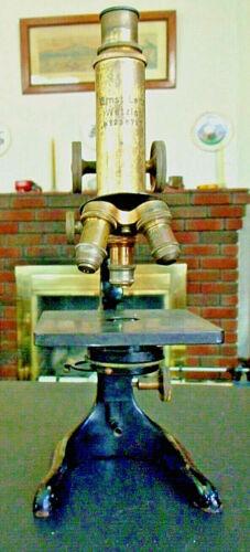 Brass Leitz Microscope - Ernst Leitz Wetzlar Microscope No. 236727