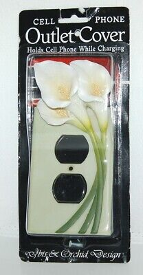 Ibis Orchid Design 33007 Cell Phone Charger Outlet Cover Duplex Single Lily ()