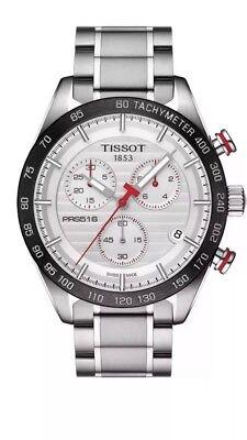 Tissot PRS 516 Chronograph Silver Dial T1004171103100 Mens Swiss Watch