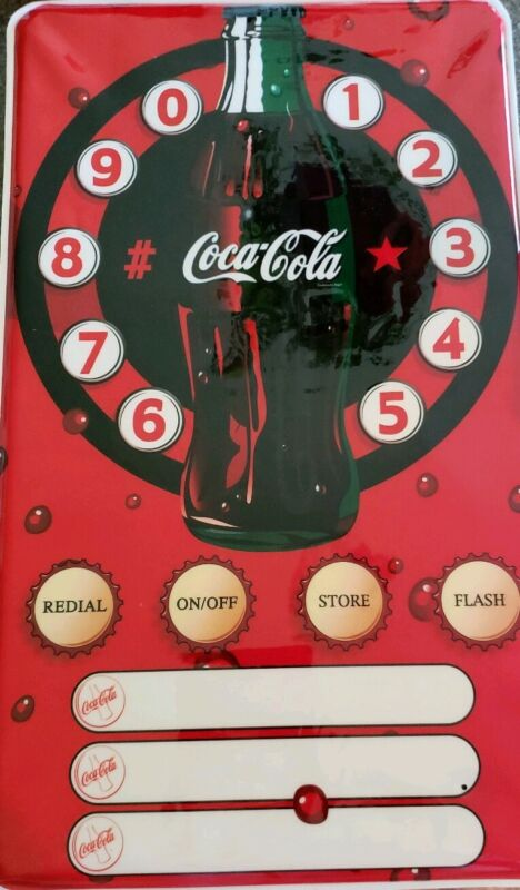 """Coca Cola Poster Telephone ~ Working Speaker Phone ~ Wall Hanging ~ 12"""" x 20"""""""