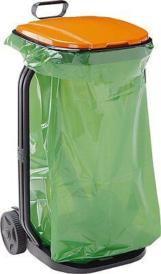 Cubo Bolsa de Basura para Jardin Carro Recogedor Hierba Hojas Residuos Exterior