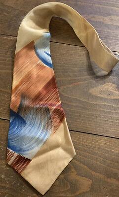 1960s – 70s Men's Ties | Skinny Ties, Slim Ties VINTAGE All Rayon 1960's Men's Neck Tie Pilgrim Brand Multi Color $14.99 AT vintagedancer.com
