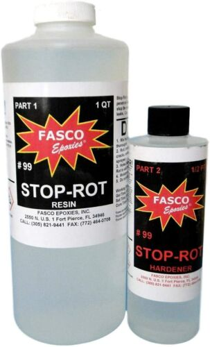 Stop-Rot Penetrating Epoxy for Repairing Rotten Wood 40 Ounce Kit