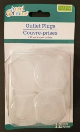 12 count - Plastic Outlet Plug Covers - Clear