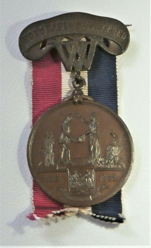 Civil War West Virginia Honorable Discharge medal - named
