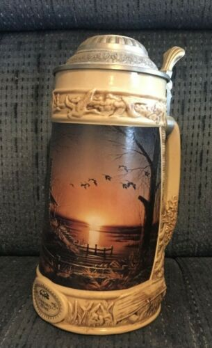 Collectible Beer Stein- Terry Redlin - Comforts Of Home Numbered Tankard