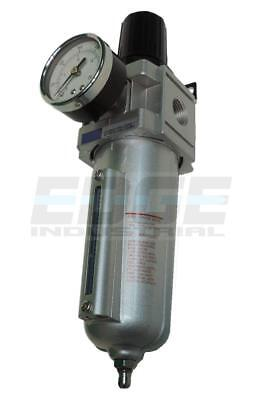 Industrial Grade Pneumatic Filter Regulator Compressed Air Metal Bowl 12 Npt