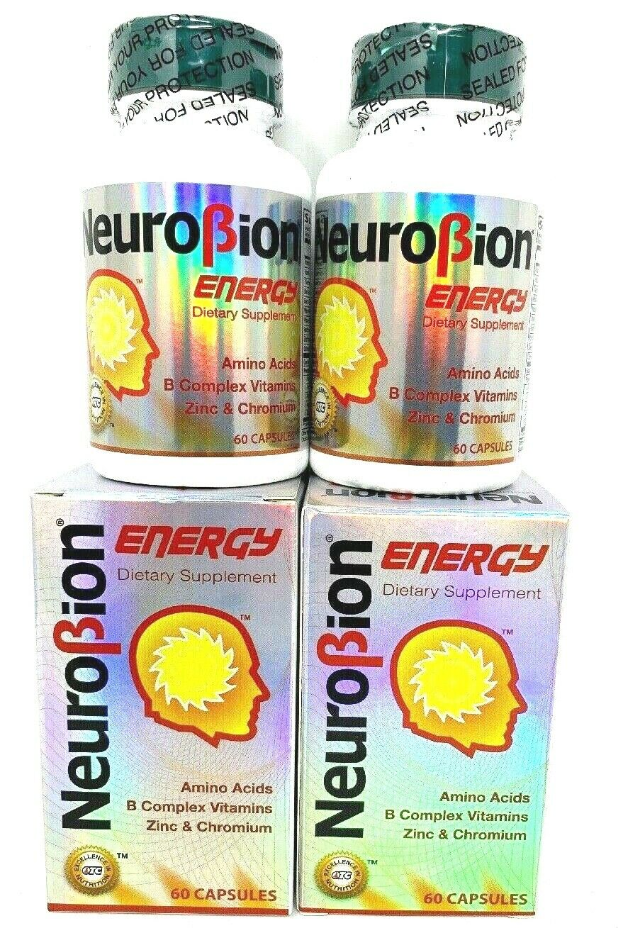2 PK Neurobion Energy Dietary Supplement 60 Capsules Vitamina B1 B2 B6 B12