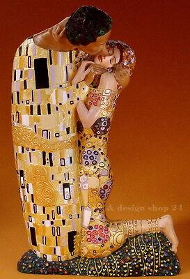 """GUSTAV KLIMT Skulptur - """"Der Kuss"""" - traumhaft schöne Figur der Museums Edition"""
