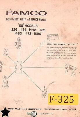 Famco Es Models Shears Installation Parts And Service Manual