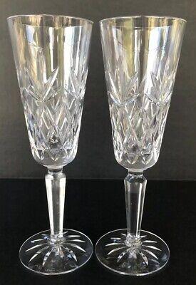 Vintage Lenox Crystal Champagne Flutes Charleston 8
