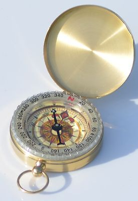 BRASS ENGRAVED Coordinate Compass  - Personalised Gift