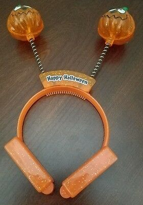 Jack Head Costume (2 Halloween Jack O'Lantern Headbands that Light Up Pumpkin Costume Head)