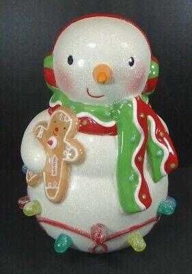 Hallmark Ceramic Light Up Musical Gum Drop Snowman Seasons Treatings