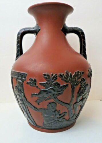 Greek Revival Wilhelm Schiller & Son Terracotta Pottery Portland Vase Circa 1880