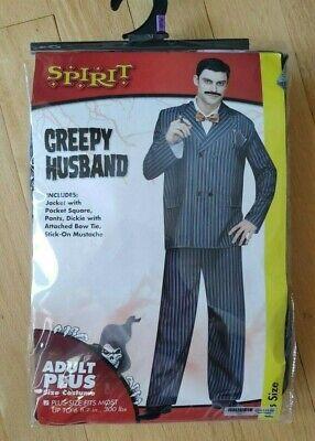 Spirit Halloween Creepy Husband Costume Plus Size up to 300 lbs - Spirit Halloween Plus Size