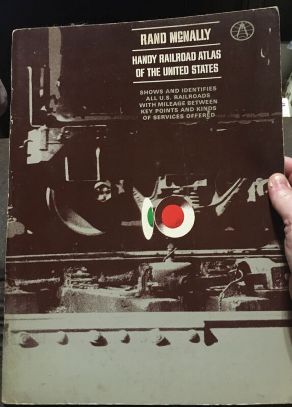 Rand McNally Railroad Atlas of the United States 1967, Free Shipping