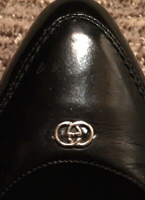 RARE Black Patent Leather GUCCI Flats Vintage Authentic Holiday Classics