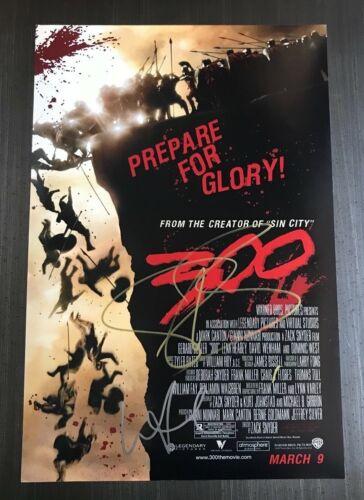 * 300 MOVIE * signed 12x18 poster photo * GERARD BUTLER & LENA HEADEY * 1