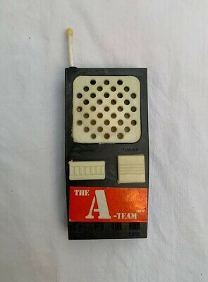 VINTAGE THE A-TEAM WALKIE TALKIE TOY ACCESSORY ACTION FIGURE EXTEND ANTENNA MR T