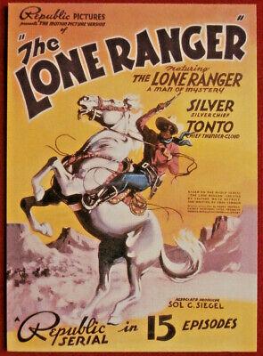 THE LONE RANGER - Card #15 - Dart 1997 - FIRST RANGER MOVIE / 15-EPISODE SERIAL