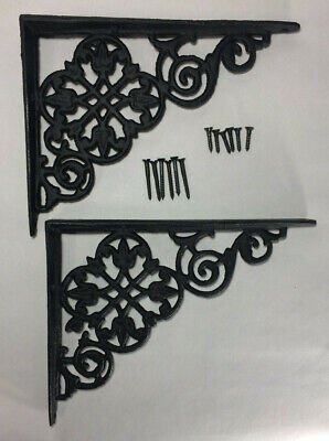 "Used, 1 Pair of Cast Iron Shelf Brackets New Pennsylvania Dutch Motif 7 7/8"" Long #617 for sale  Shipping to India"