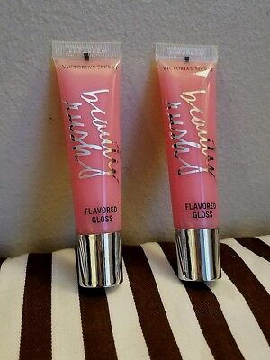 VICTORIA'S SECRET BEAUTY RUSH FLAVORED LIP GLOSS IN CANDY BABY SET OF 2 NO - Candy Baby