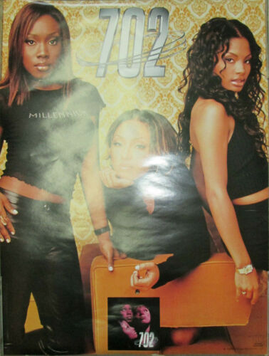 702 - Where My Girls At, orig Motown 2-sided promo poster, 1999, 18x24, EX, sexy