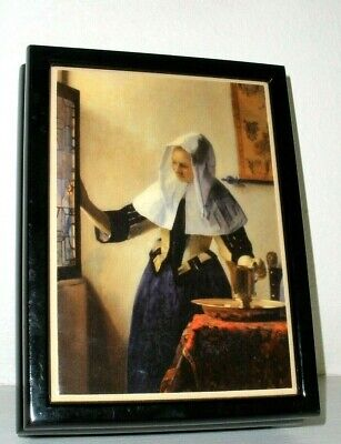 RARE-HTF MMA Music Jewelry Box Johannes Vermeer Young Woman with Water Jug **