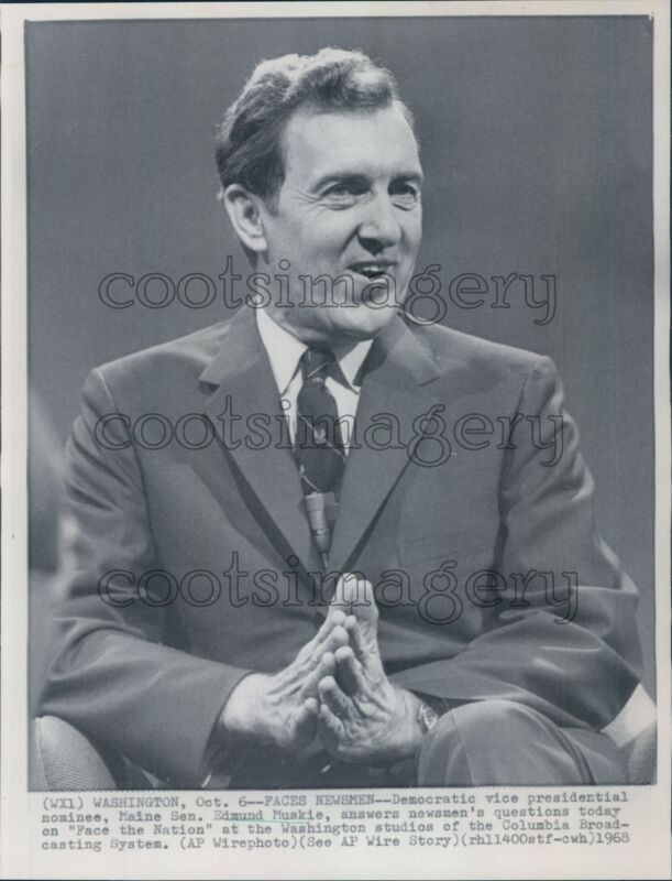 1968 US Senator Edmund Muskie of Maine Press Photo