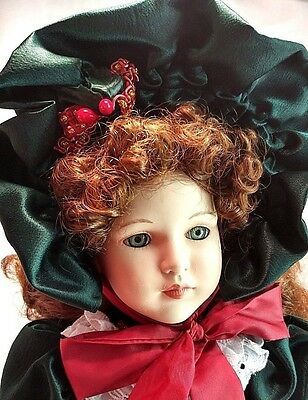 """Dynasty Collection QVC Vintage Joy Christmas 16"""" Musical Porcelain Bisque Doll"""