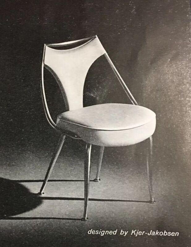 Kjer Jakobsen Decorator Group Unusual Chairs Virtue Bros Vintage 1962 Print Ad