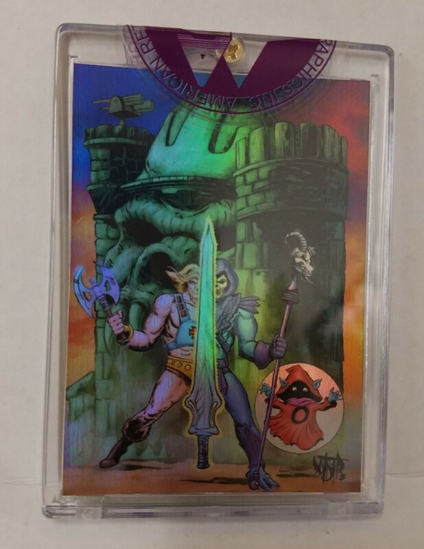 Power-Con Exclusive MOTU Chromium Card Signed Numbered New Sealed In Case DCastr