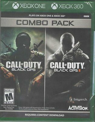 Call Of Duty  Black Ops 1   2 Combo Pack  Xbox 360 Xbox One Shooter Fps  New
