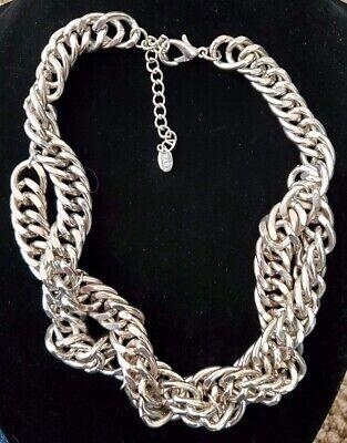 ZARA Twisted Metal Chain  Link Necklace Fashion Statement Heavy