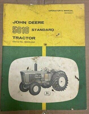 John Deere 5010 Standard Tractor Operator Manual Om-r36977 B-8