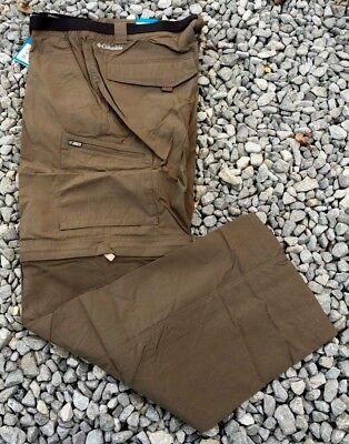 (NWT Columbia Mens Silver Ridge Convertible Big Tall Pants Major 50 x 34 MSRP $70)