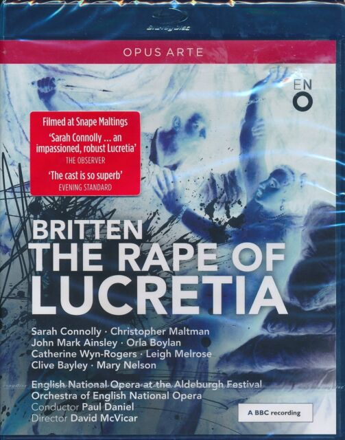 Britten The Rape of Lucretia Bluray Blu-ray NEW Sarah Cnnolly Maltman