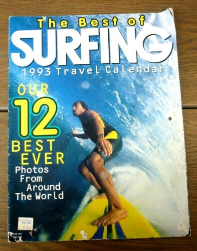 Vintage Surfing Magazine Travel Calendar - 1993 - Photos From Around the World